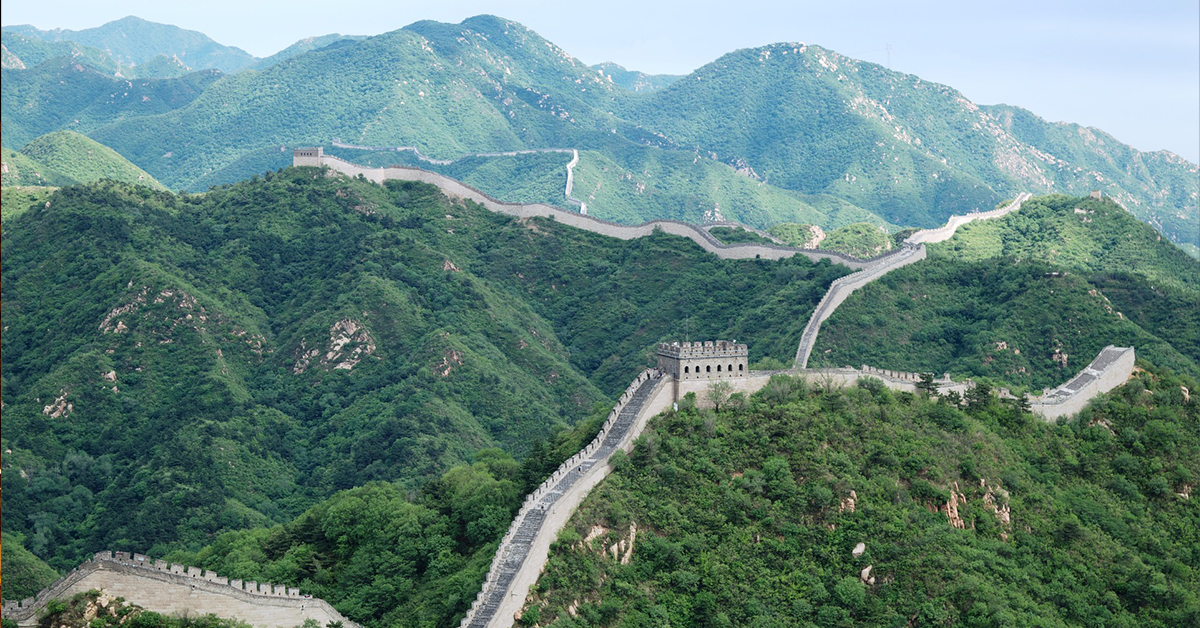 great wall china famous building