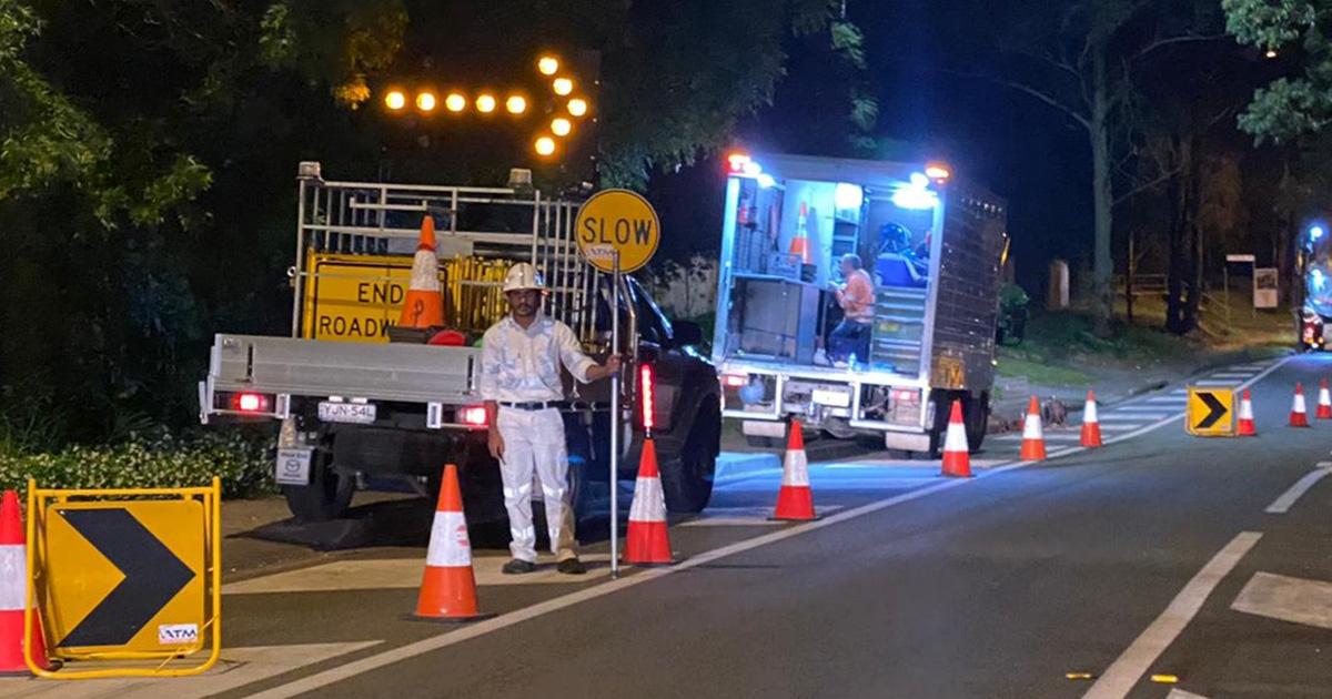 traffic hazards night
